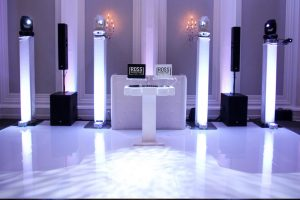 Custom DJ Booth, Intelligent lighting, Wedding DJ