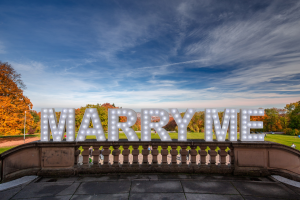 Marry Me Marquee Letters in Hershey, PA