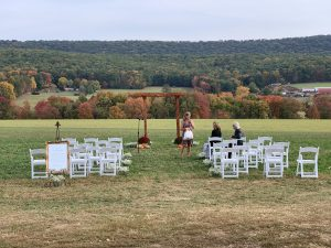 Wedding Ceremony at a private farm #RossProductions @RossProductions